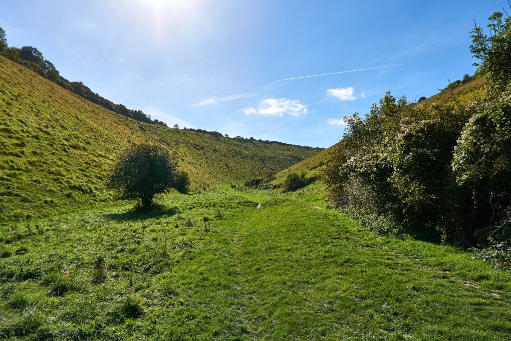 Photograph of Devil's Dyke on a beautiful sunny day