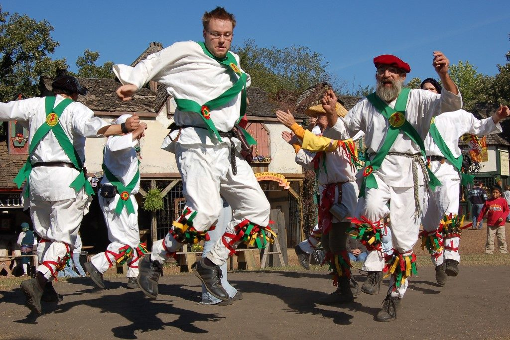 Image of Morris Dancers dancing at Spring event