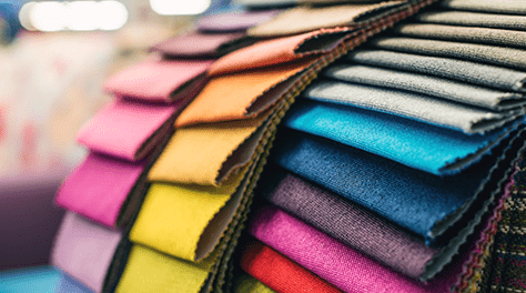 colourful fabric samples